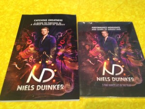 Niels Duinker donated copies of his new book and dvd as prizes for the YJA's bimonthly giveaway.