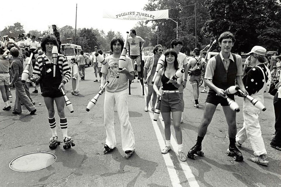 Craig Barnes on right roller skating - 1977 IJA