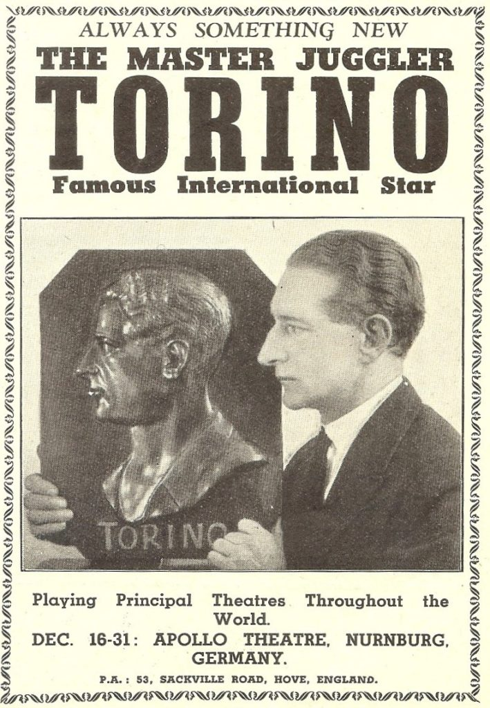 Torino - Advertisement - 1938 Christmas - The Performer - From Collection of Peter Lane (791x1143)