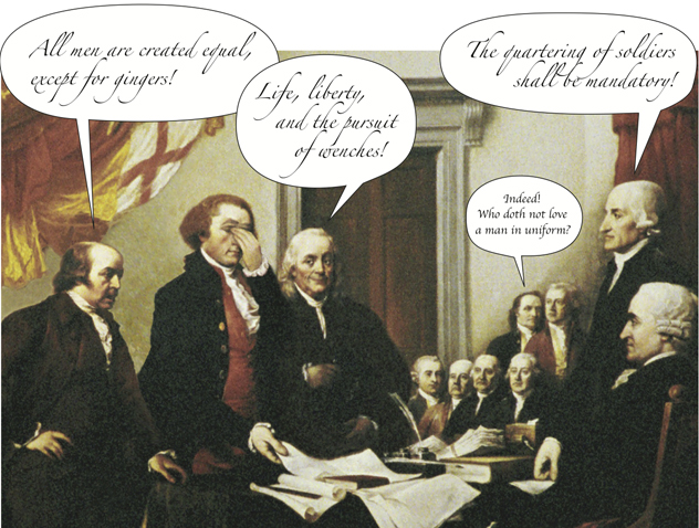 Founding Fathers Writing Comedy