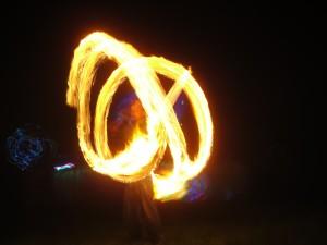 Fire dancing.