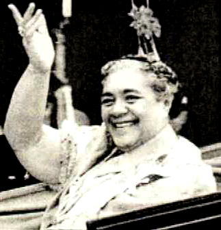 "Queen Salote (1918-1965) is loved by all...even to this day.  Tongan Women admire her and reference her often.  She was 6'3"" (1.91metres)with a huge smile. It was very unusual for a queen to be the Monarch's leader, but she won the Tongans hearts. In 1953, she helped honor the Queen of England's Coronation in London, and brought Tonga to the world view with her grace and dignity. She loved all the cultural arts and dances, and maybe even played Hiko!"