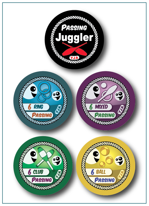 Now Available, Youth Juggling Academy Passing Badges!