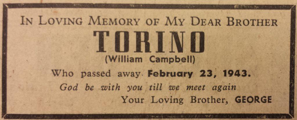 In Memory of Torino